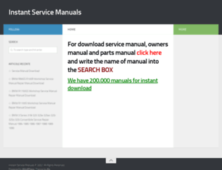 instantservicemanuals.com screenshot