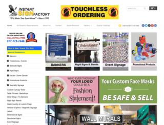 instantsignfactory.com screenshot
