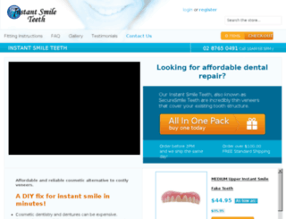 instantsmileteeth.com.au screenshot