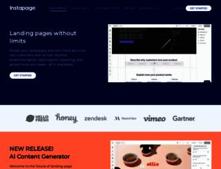 instapage.com screenshot