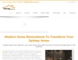 instilerenovations.com.au screenshot