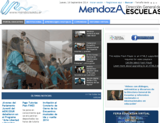 institucional.mendoza.edu.ar screenshot