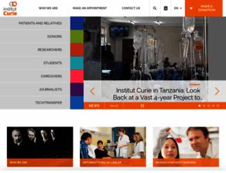 institut-curie.org screenshot