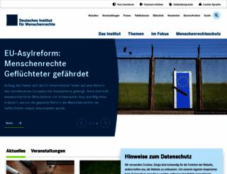 institut-fuer-menschenrechte.de screenshot