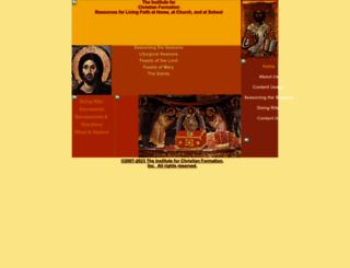 instituteforchristianformation.org screenshot