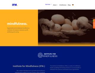 instituteformindfulness.org screenshot