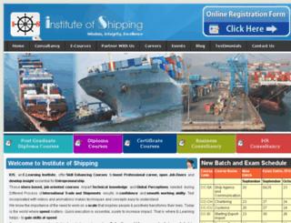 instituteofshipping.com screenshot