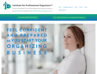 instituteprofessionalorganizers.com screenshot