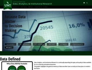 institutionalresearch.unt.edu screenshot