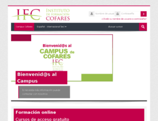 institutonline.cofares.es screenshot