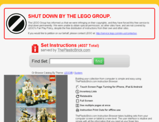 instructions.theplasticbrick.com screenshot