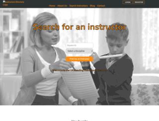 instructors-directory.co.uk screenshot