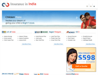 insurance-in-india.com screenshot