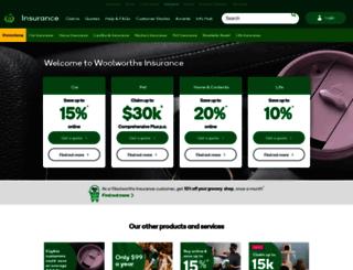insurance.woolworths.com.au screenshot