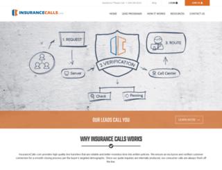 insurancecalls.com screenshot