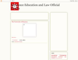insuranceeducationlaw.blogspot.com.br screenshot