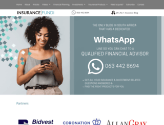 insurancefundi.co.za screenshot