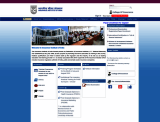 insuranceinstituteofindia.com screenshot