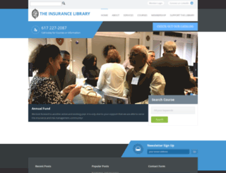 insurancelibrary.org screenshot