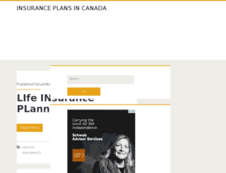 insuranceplansincanada.in screenshot