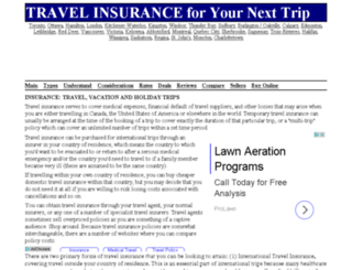 insurancetravel.ca screenshot