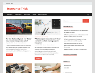 insurancetrick.com screenshot