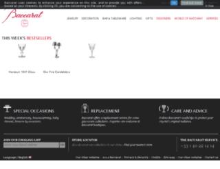 int.baccarat.com screenshot