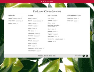 int.clarins.com screenshot