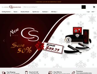 int.classicshaving.com screenshot