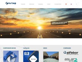 intas.com.tr screenshot