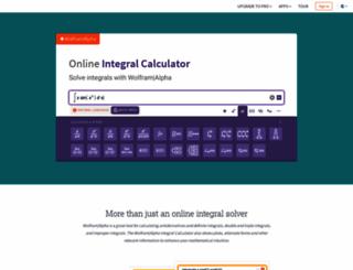 integrals.wolfram.com screenshot