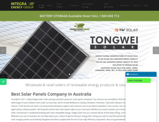 integrasolar.com.au screenshot