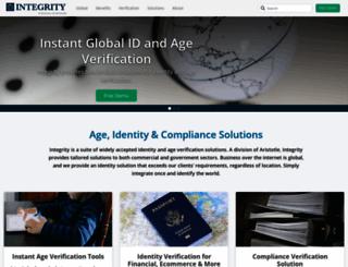 integrity.aristotle.com screenshot