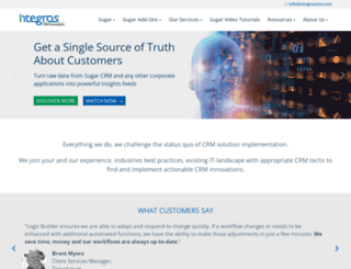 integroscrm.com screenshot