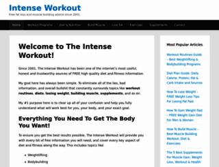 intense-workout.com screenshot