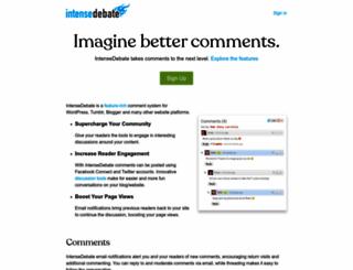 intensedebate.com screenshot