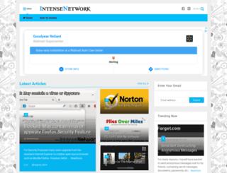 intensenetwork.com screenshot