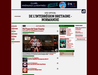 inter-bretagne-normandie.athle.com screenshot