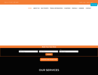 intercape.co.za screenshot