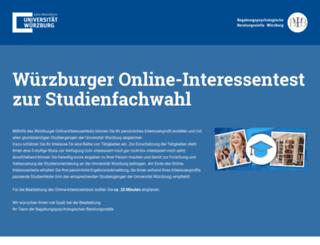 interessentest.uni-wuerzburg.de screenshot