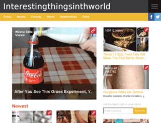 interestingthingsinthworld.org screenshot