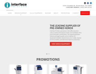 interfaceprinters.com screenshot