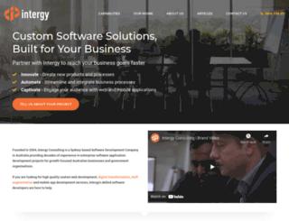 intergy.com.au screenshot