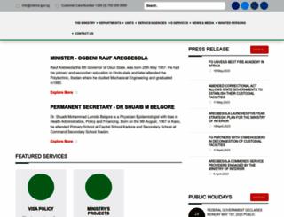interior.gov.ng screenshot