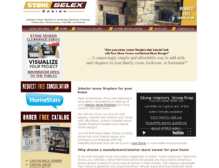 interiorstonefireplace.com screenshot