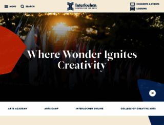 interlochen.org screenshot