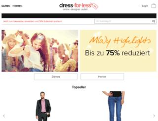 intern.dress-for-less.at screenshot