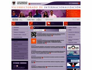 internacional.ugr.es screenshot
