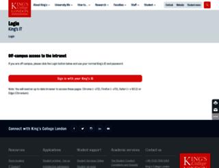 internal.kcl.ac.uk screenshot