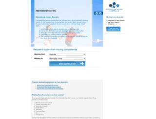 international-movers-australia.com screenshot